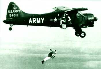 First U.S. Army Free Fall Training Fort Bragg, 1957