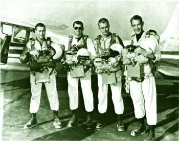 Team that set first official day and night world records for the U.S. 1961